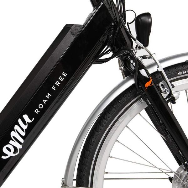 Emu Step Through Electric Bike in Black with Battery, 2020 Model-4