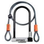 Kryptolok Standard U Lock with 4 foot Kryptoflex cable Sold Secure Gold