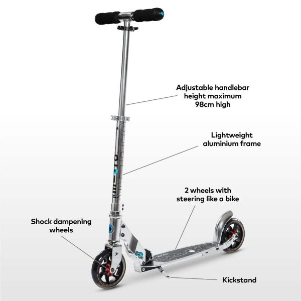 Speed Classic Micro Scooter Silver-7