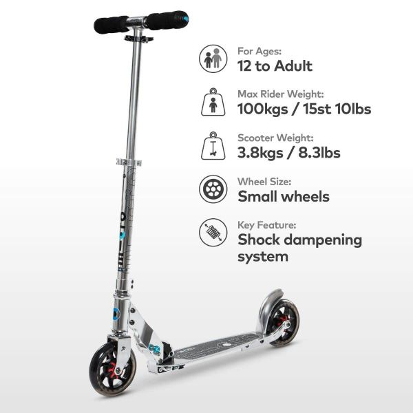Speed Classic Micro Scooter Silver-6
